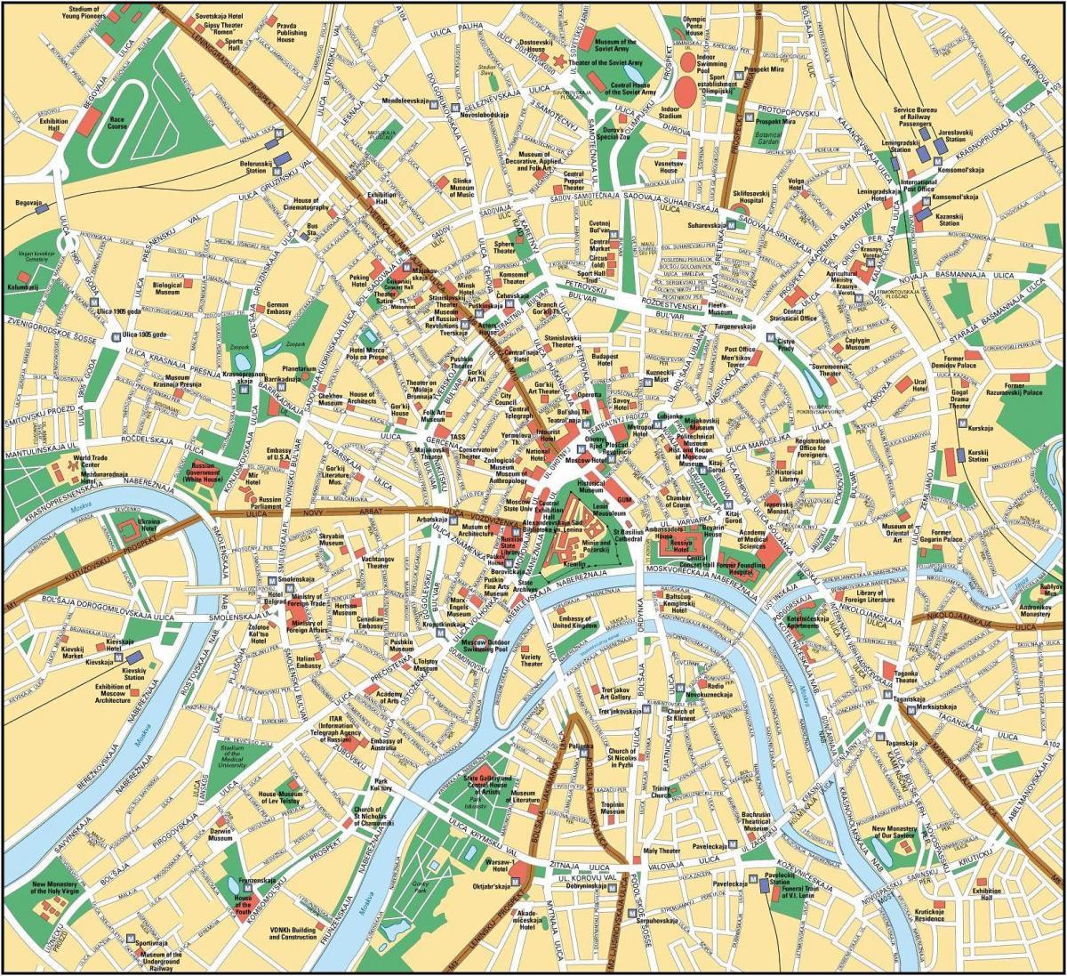 moskva karta Moskva karta på engelska   Karta över Moskva i engelska (Ryssland) moskva karta
